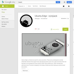 Ubuntu Edge - iconpack - Android Apps on Google Play