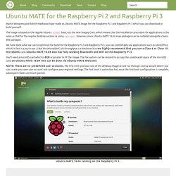 Raspberry pi 2 ubuntu mate download