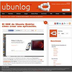 El sdk de Ubuntu Mobile: cómo crear una aplicación