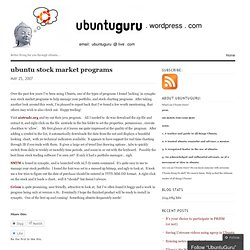 ubuntu stock market programs « UbuntuGuru