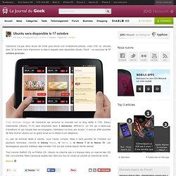 Ubuntu sera disponible le 17 octobre