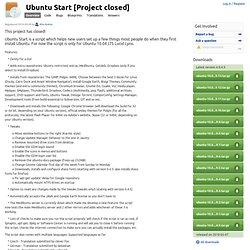 Ubuntu Start in Launchpad