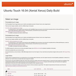 Ubuntu Touch 16.04 (Xenial Xerus) Daily Build