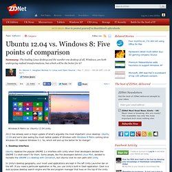Ubuntu 12.04 vs. Windows 8: Five points of comparison