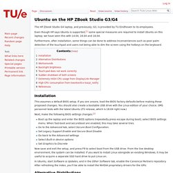 Ubuntu on the HP ZBook Studio G3/G4 - TU/e Linux Wiki