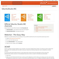 UbuntuStudio/IRC