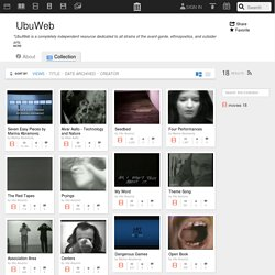 UbuWeb : Free Movies : Download & Streaming
