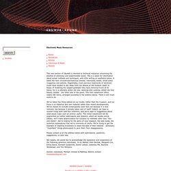 UbuWeb l Ressources sur la musique électronique