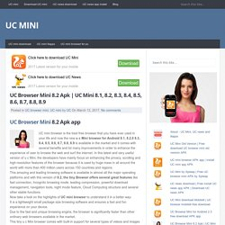 UC Browser Mini 8.2 Apk