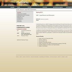 UCB Rhetoric - UCB Rhetoric - Spring 2012