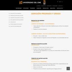 UCINE Admisión Pregrado y Grado - UCINE
