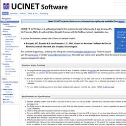 UCINET Software