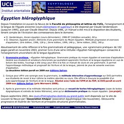 UCL-ORI: egyptologie-hieroglyphes