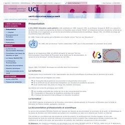 """1984 Jacques Alain BURY, """"L'éducation pour la santé UCL - Présentation"""