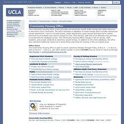 UCLA - Community Housing