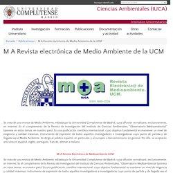 M A Revista electrónica de Medio Ambiente de la UCM