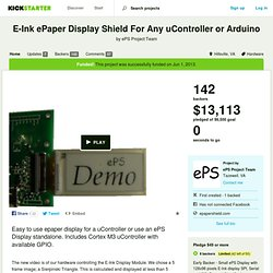 E-Ink Display for Any Microprocessor by ePS Project Team