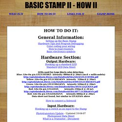 MAE - Basic Stamp II How II - How to