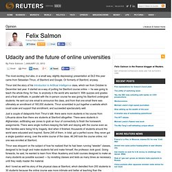 Udacity and the future of online universities