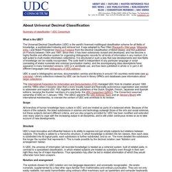 UDC Consortium