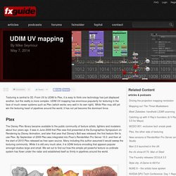 UDIM UV mapping