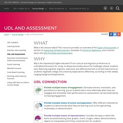UDL On Campus: UDL and Assessment