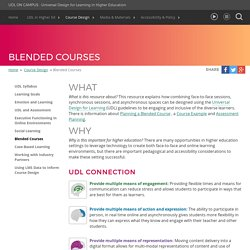 UDL On Campus: Blended Courses