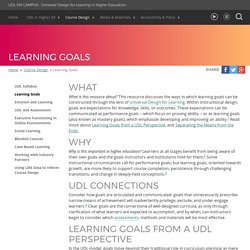 UDL On Campus: Learning Goals