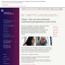 Udsyn - Nyt om internationale uddannelsesprogrammer, marts 2016