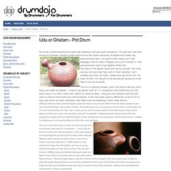 Udu or Ghatam - Pot Drum
