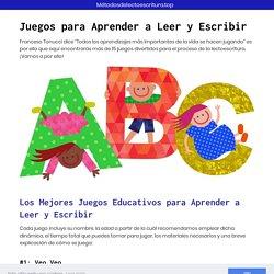 ⊛▷ ➕ 15 J 【uegos para Aprender a Leer y Escribir para Niños】