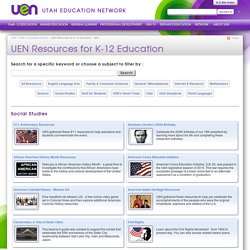 UEN Resources for K-12 Education