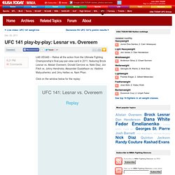 UFC 141 play-by-play: Lesnar vs. Overeem