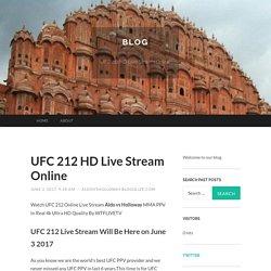 UFC 212 HD Live Stream Online