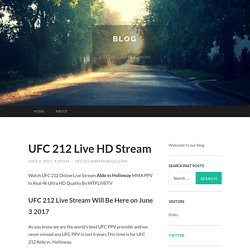 UFC 212 Live HD Stream