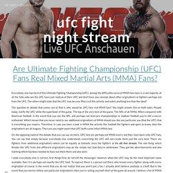 ufc fight night stream