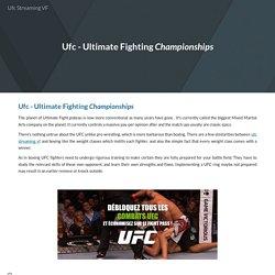 Ufc Streaming VF