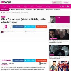 Ola - I'm In Love (Video ufficiale, testo e traduzione)