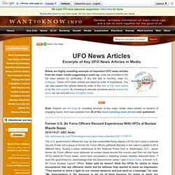 UFO News Articles