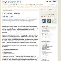UFO Patterns & Predictions