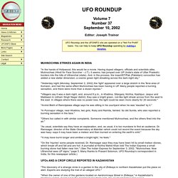 UFO ROUNDUP Volume 7 Number 37