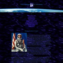 UFO sightings by NASA Astronauts