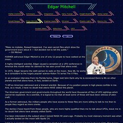UFOs & Astronaut Dr. Edgar Mitchell
