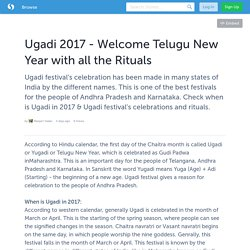 Ugadi 2017 - Welcome Telugu New Year with all the Rituals