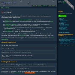 UglifyJS — JavaScript parser, compressor, minifier written in JS