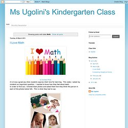 Ms Ugolini's Kindergarten Class: Math