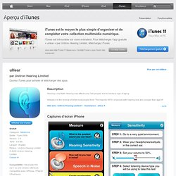 uHear pour iPhone, iPod touch et iPad dans l'App Store d'iTunes