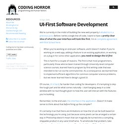 UI-First Software Development