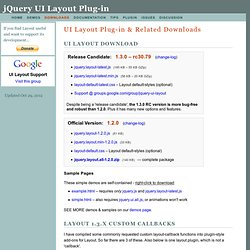 UI.Layout Plug-in - Downloads