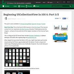 Beginning UICollectionView In iOS 6: Part 1/2